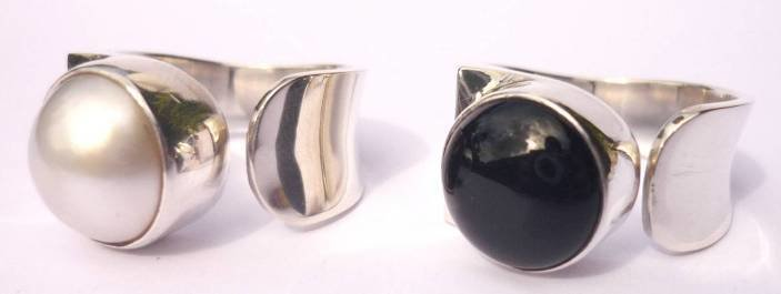 Sterling Silver Mabe Pearl Designer Ring R-09022 Mabe