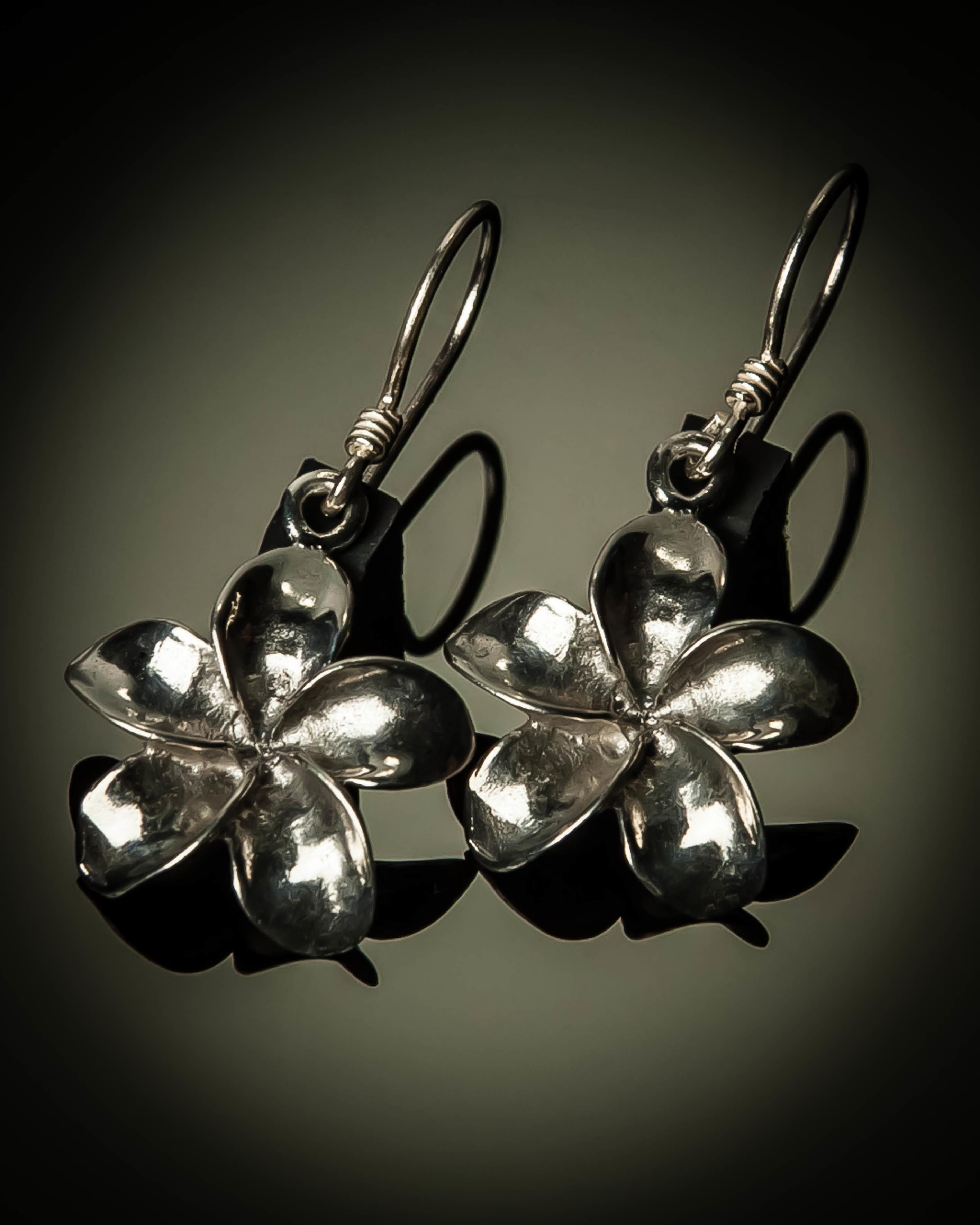 Frangipani Sterling Silver Earrings ER-09052