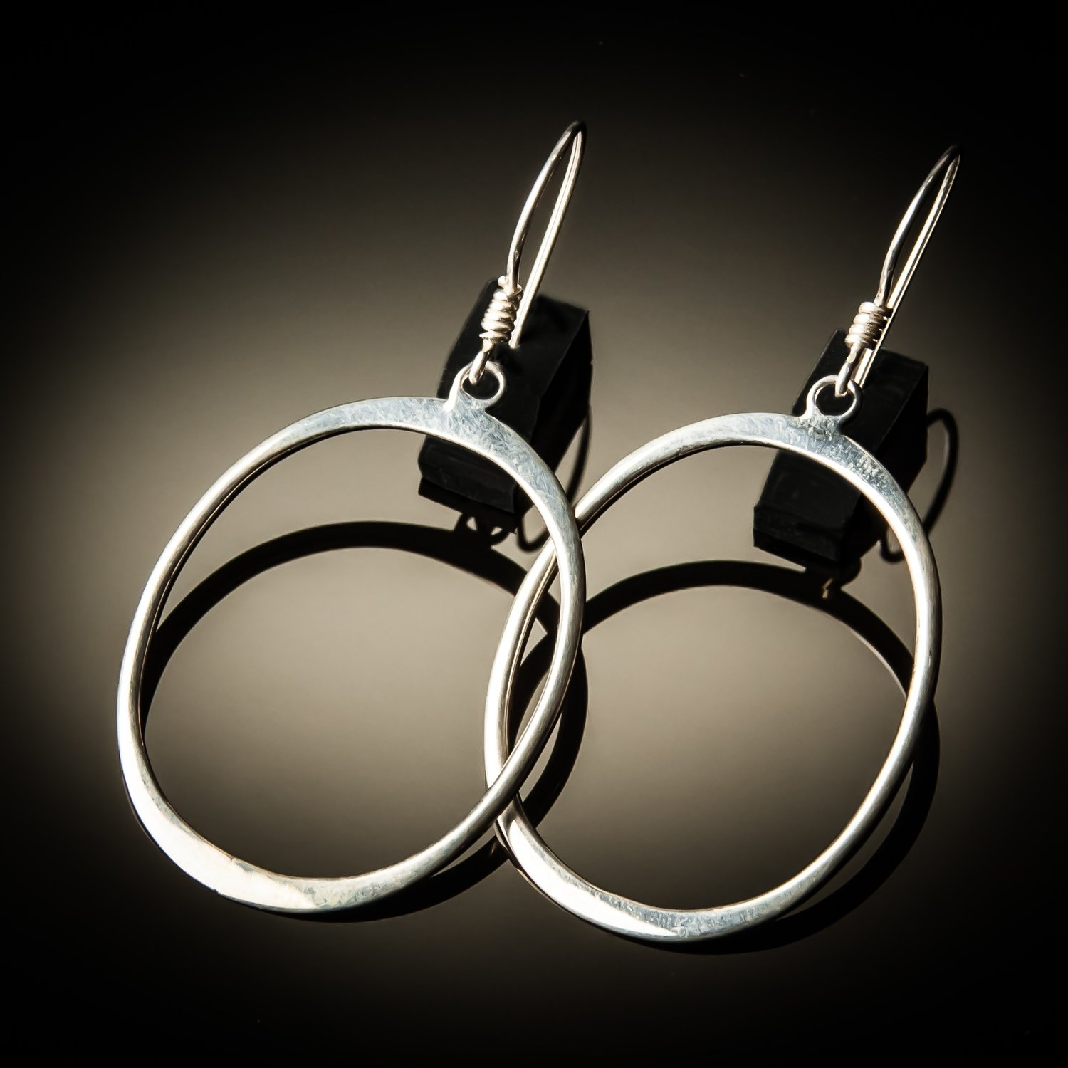 Sterling Silver Hoop Earrings- Medium