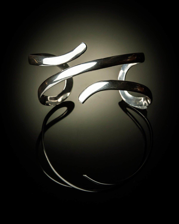 Sterling Silver Double Swirl Bracelet