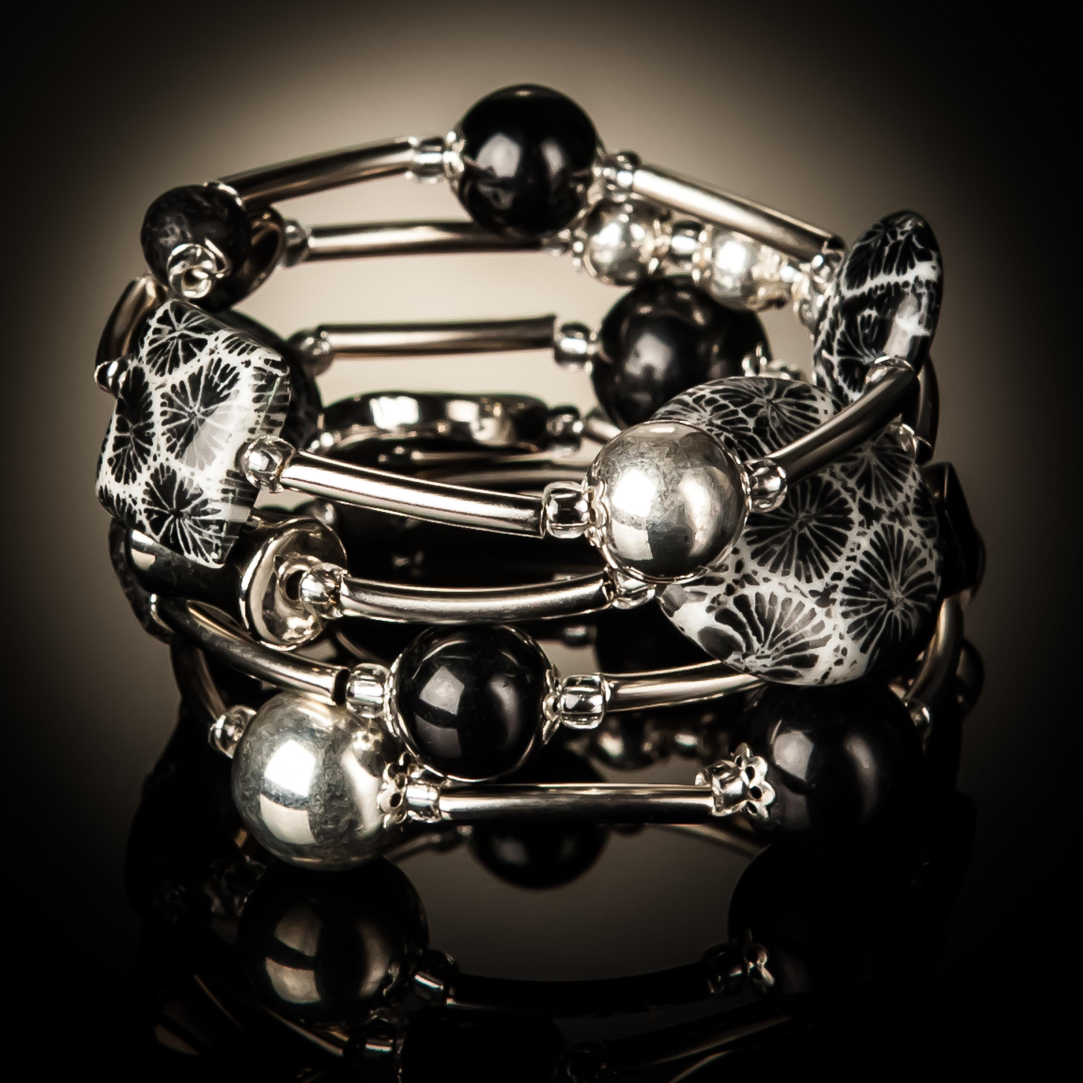 Black Coral Twist Bracelet 936