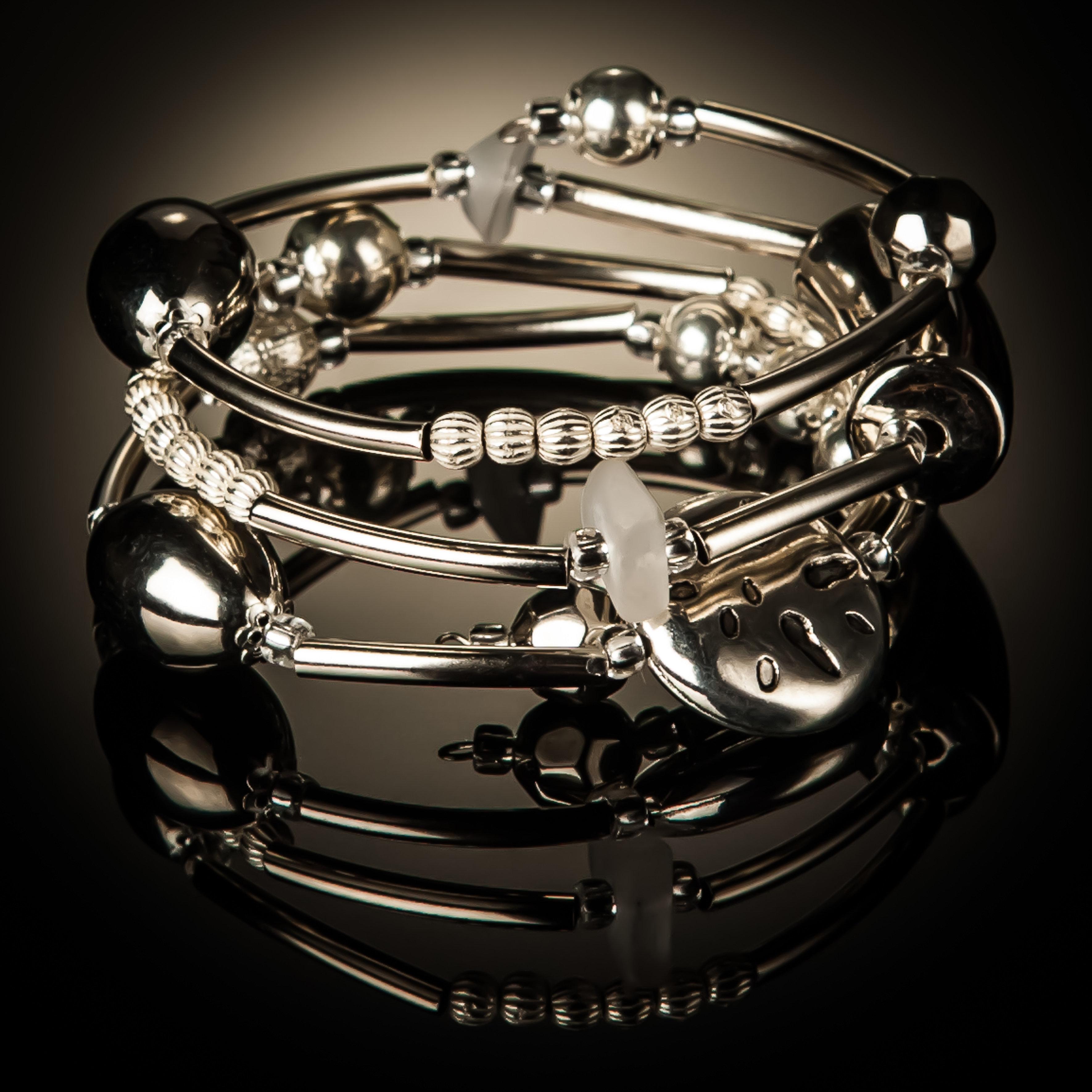 Silver Stainless Steel Twist Bracelet 789
