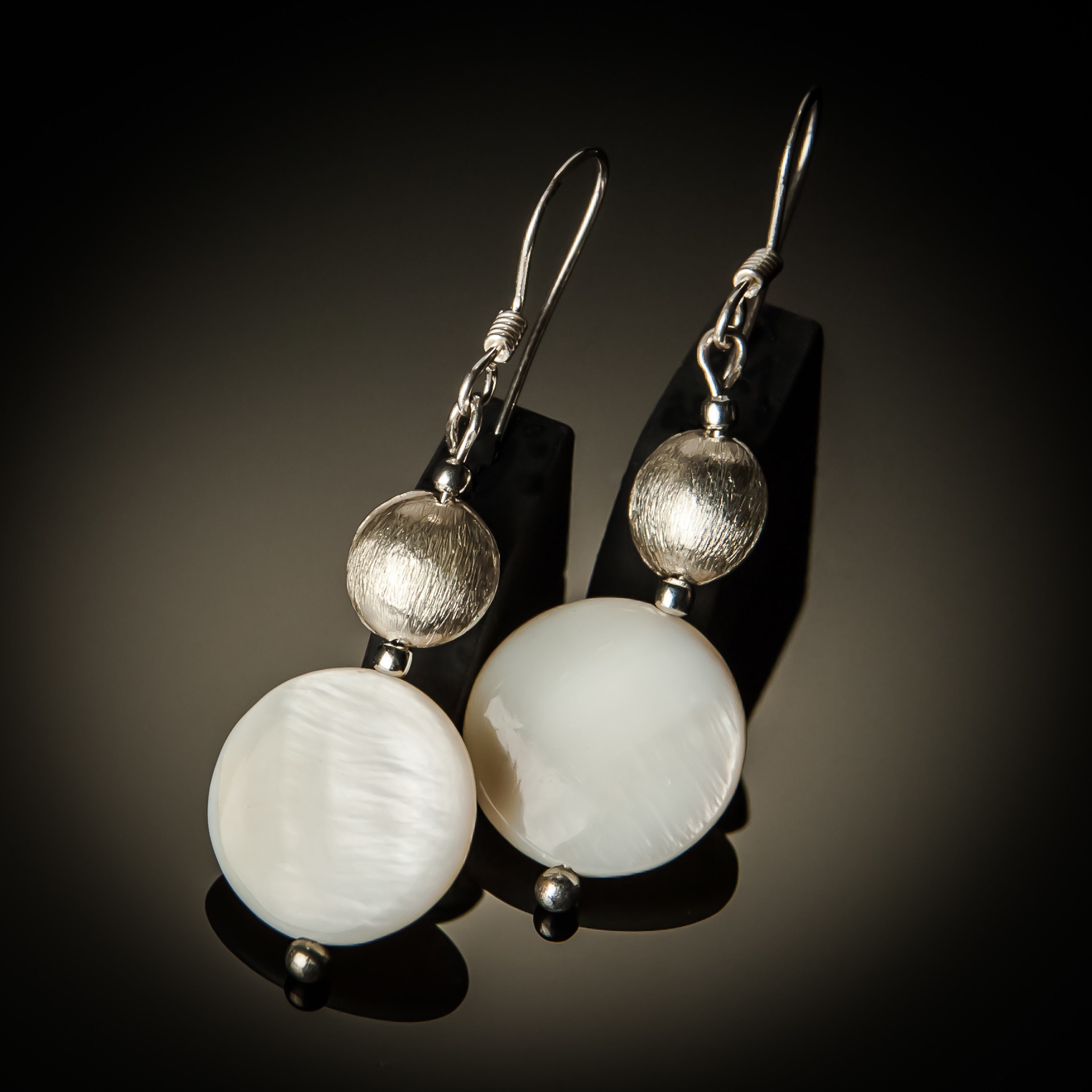 Mother of Pearl Sterling Silver Earrings 658-B-ER-Mop