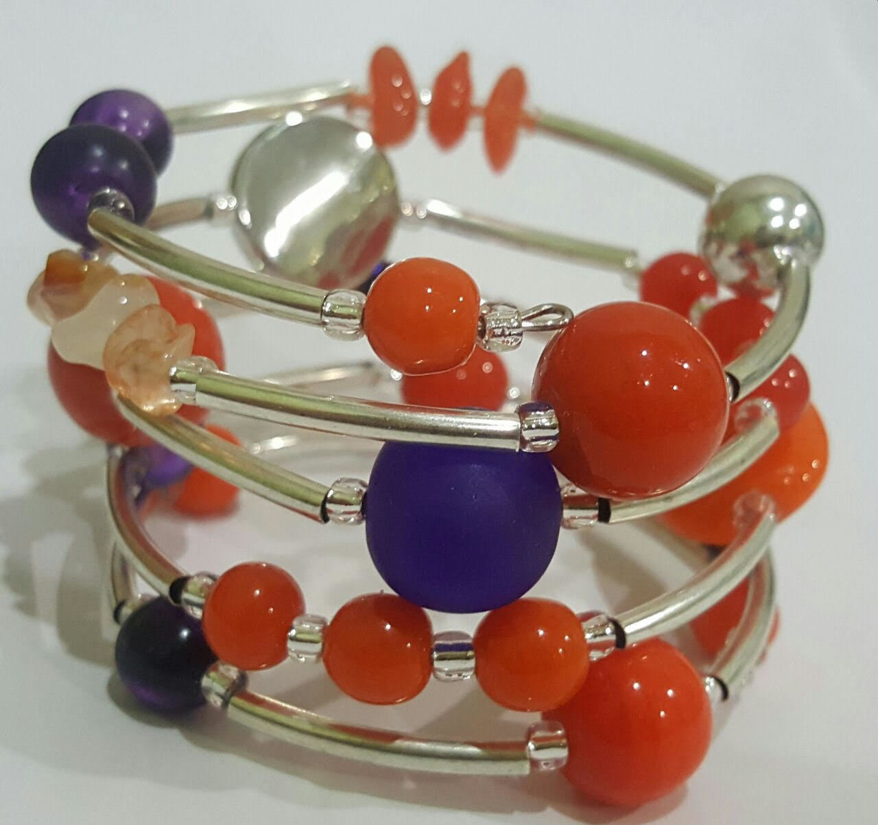 Clemson Tigers Twist Bracelet 1303