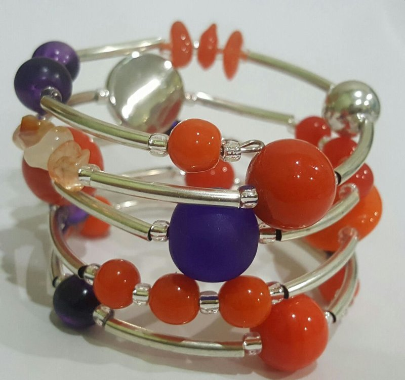 Clemson Tigers Twist Bracelet