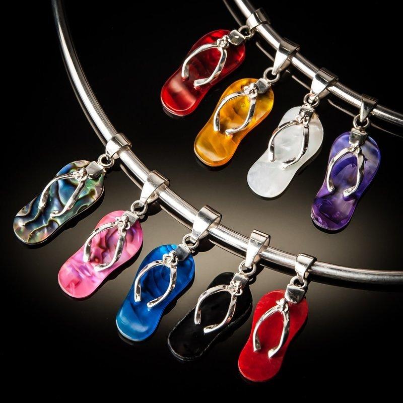 Sterling Silver Flip Flop Pendant
