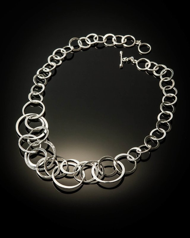 Sterling Silver Adjustable Loops Necklace