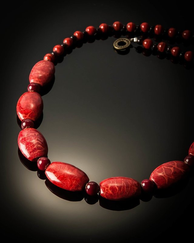 Red Coral Short Necklace