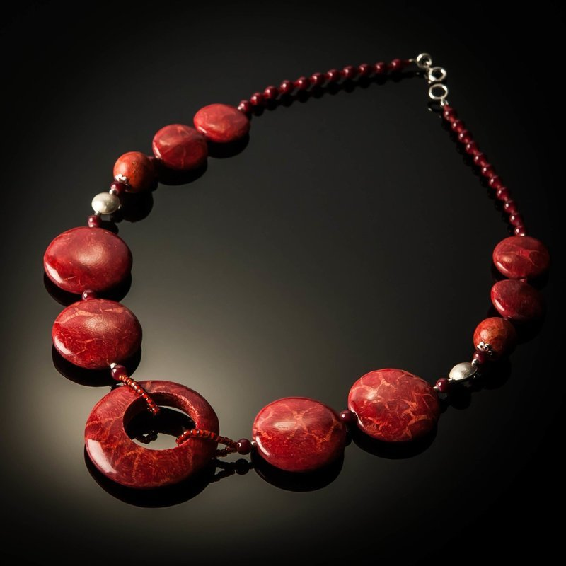 Red Coral Open Pendant