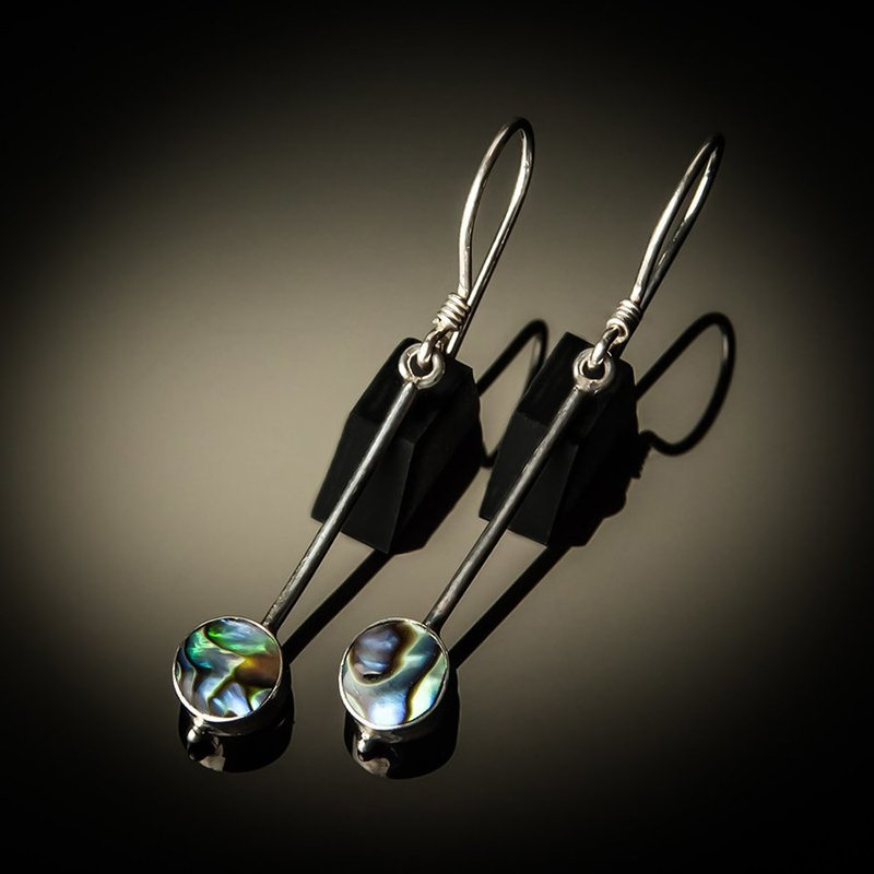 Abalone Drop Sterling Silver Earrings