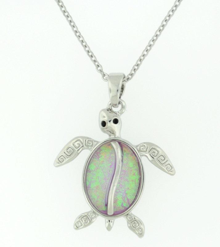 Pink Sea turltle necklace