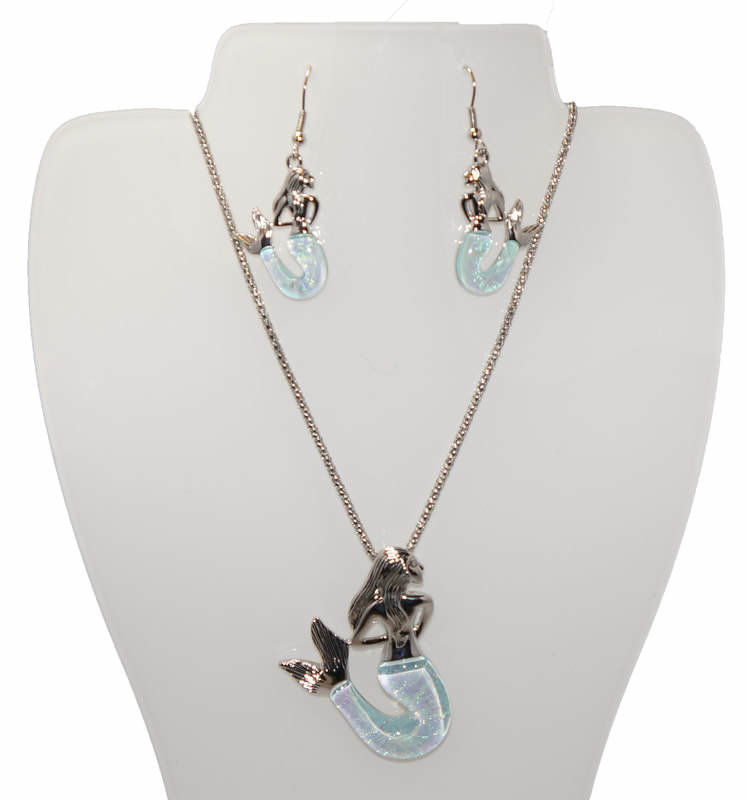 Mermaid Necklace and Earring Set STN-85