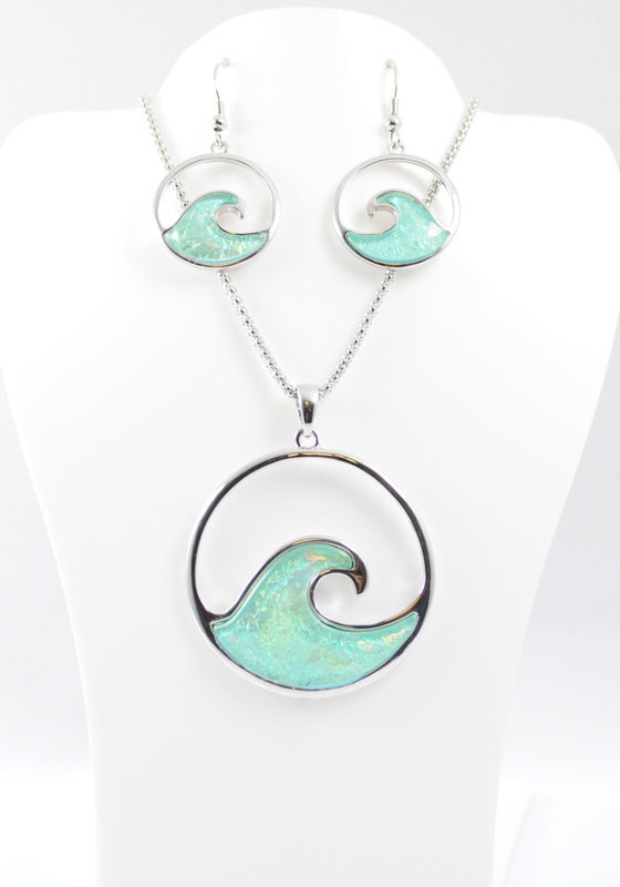 Ride the Wave Necklace and Earrings Set STN-73