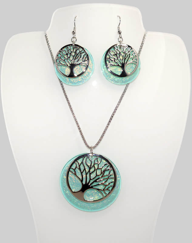 Tree of Life Necklace and Earrings Set STN-94