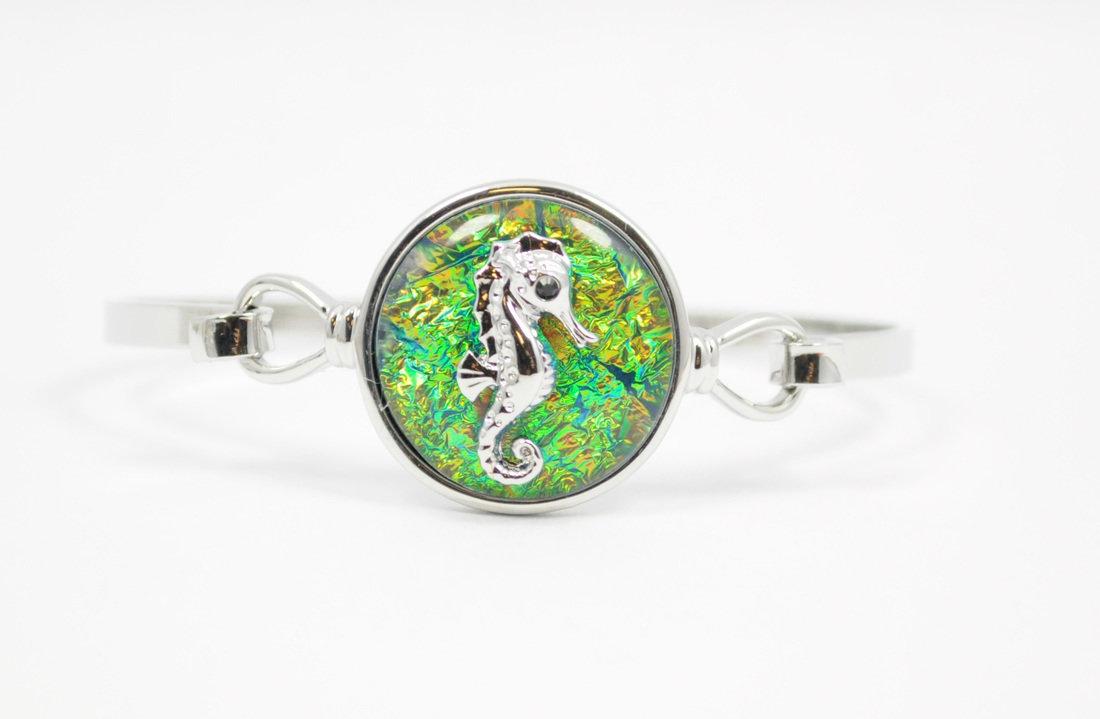 Blue/Green Seahorse Bracelet