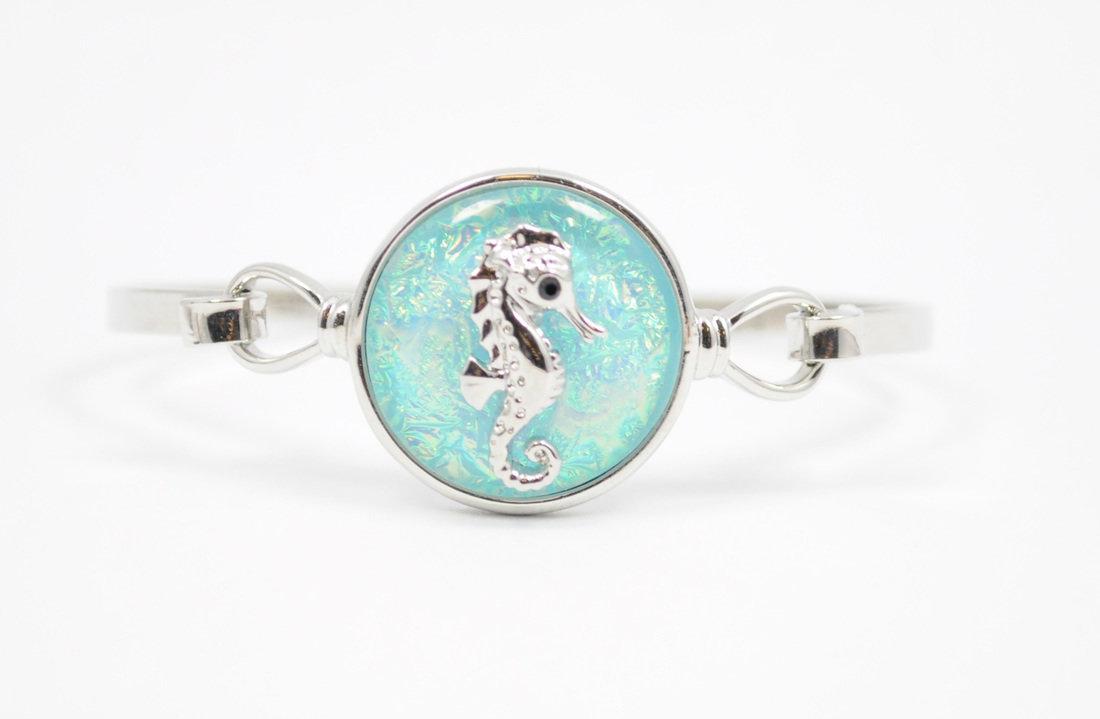 Light Blue Seahorse Bracelet