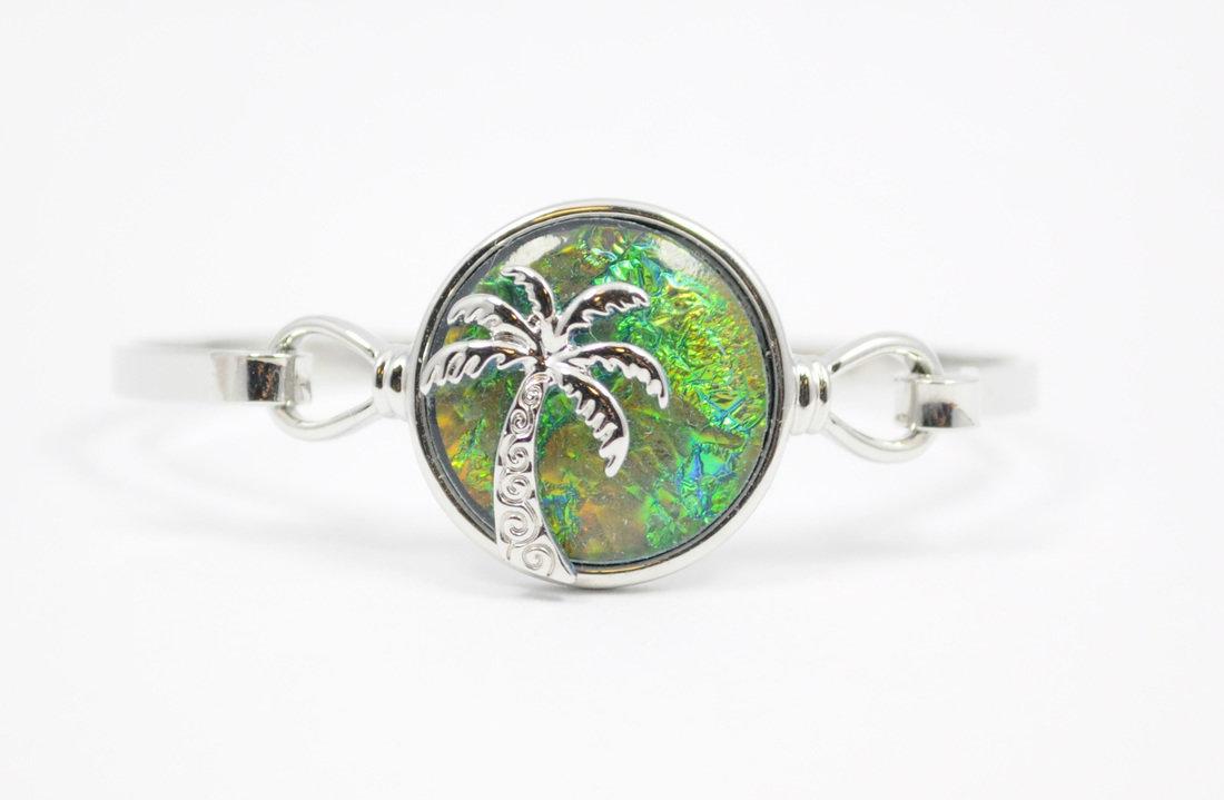 Green/Blue Palm Tree Bracelet