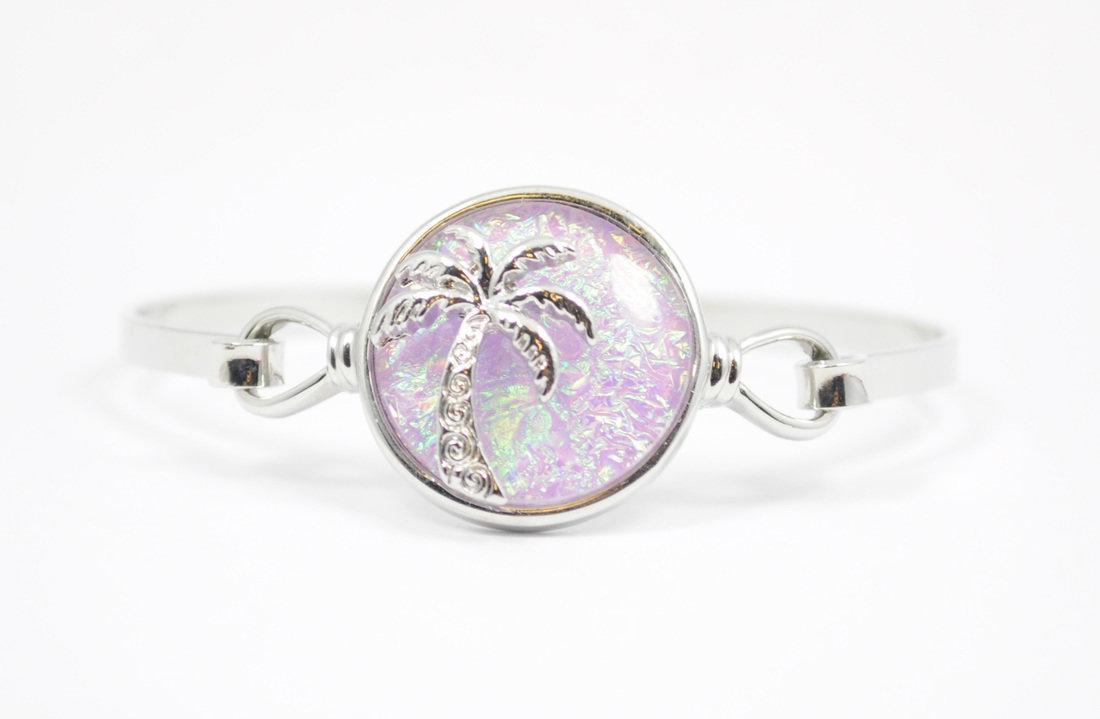 Pink Palm Tree Bracelet