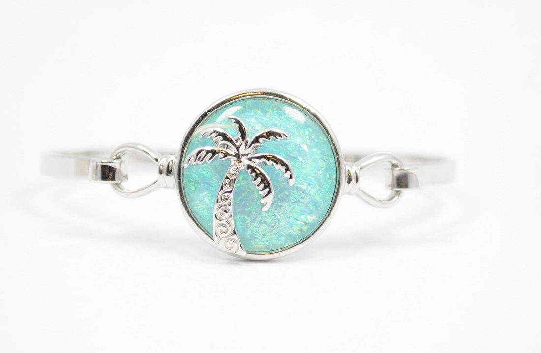 Light Blue Palm Tree Bracelet