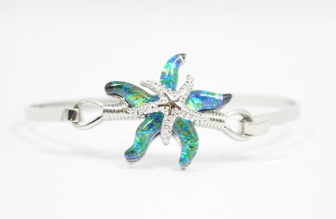 Green/Blue Starfish Bracelet