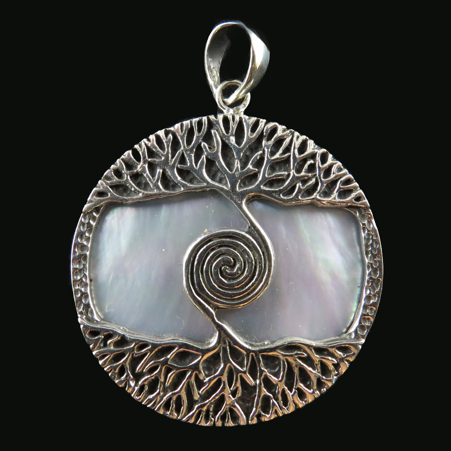 Mother of Pearl Tree of Life Pendant P-APD-4021Mother of Pearl