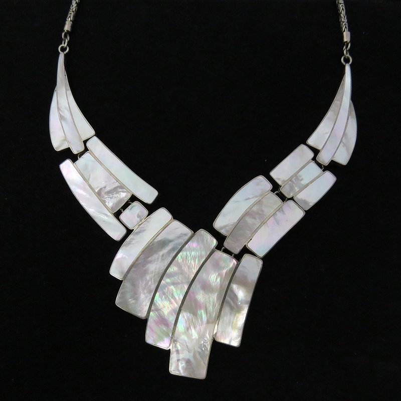 Mother of Pearl Sterling Silver Necklace