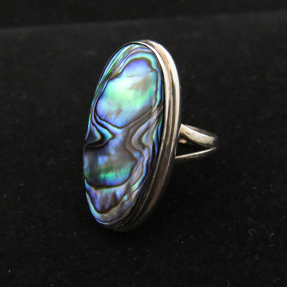 Sterling Silver Oval Abalone Ring R-ACC-2273 Abalone
