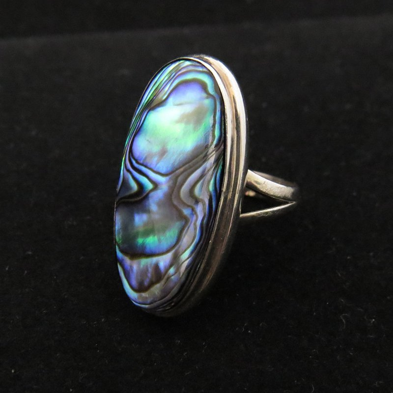 Sterling Silver Oval Abalone Ring