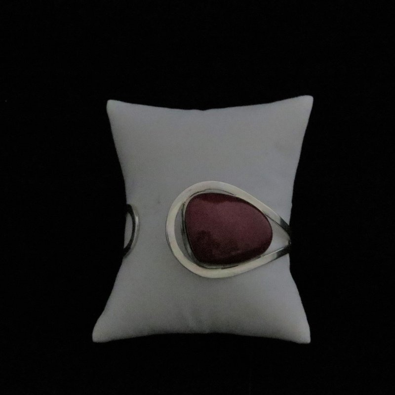 Sterling Silver Red Coral Adjustable Cuff