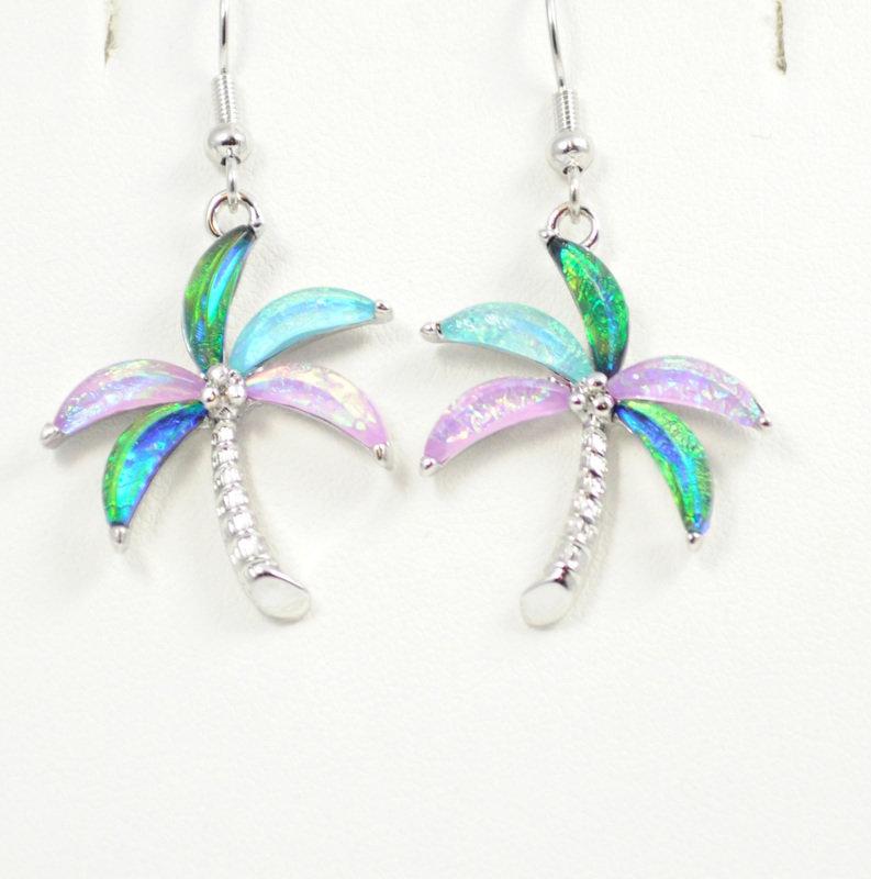 Palm Tree Multi-Color Earrings STE-1-M