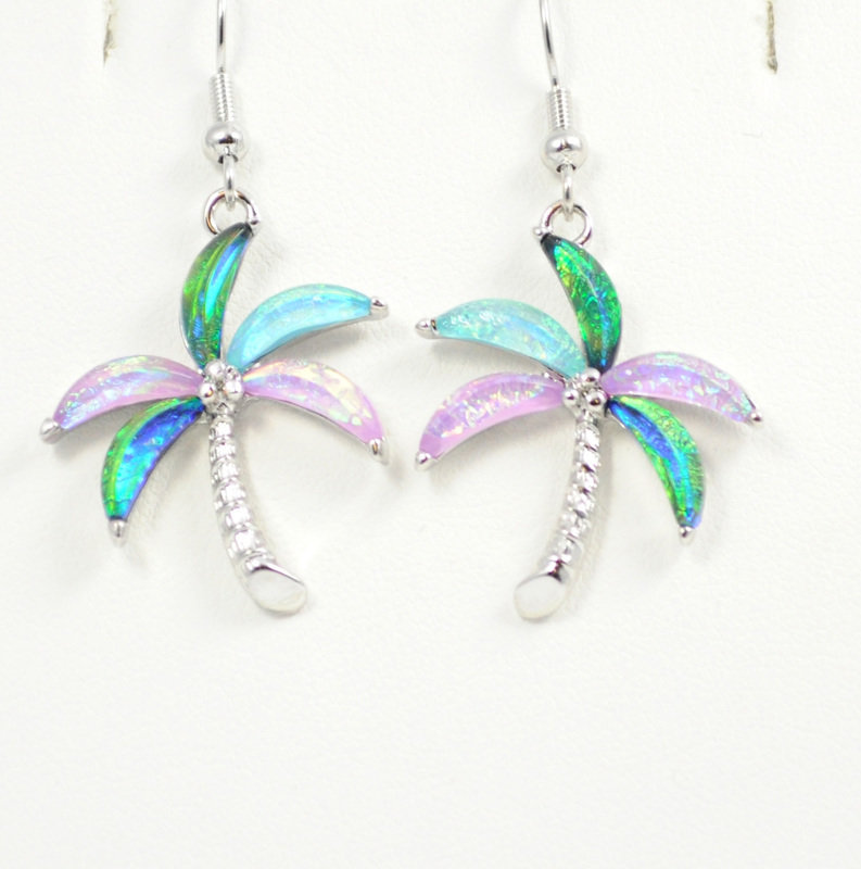 Palm Tree Multi-Color Earrings