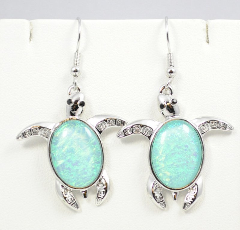 Sea Turtle Light Blue Earrings