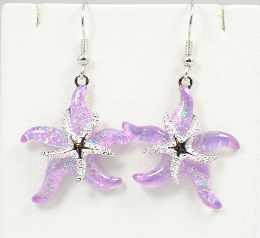 Starfish Beach Pink Earrings