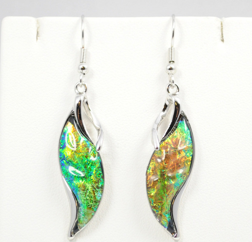Waterfall Dark Green Earrings STE-59-G