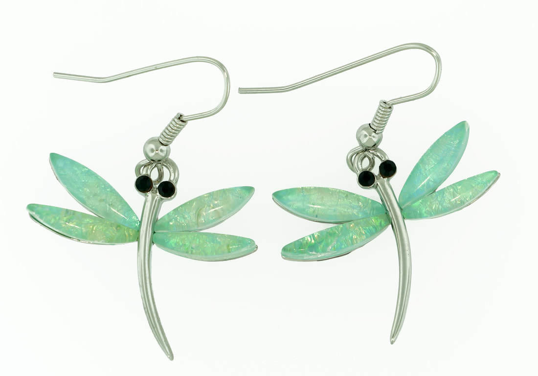 Dragon Fly in Light Blue Earrings STE-83-LBU