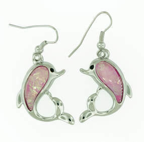 Dolphin Beach Pink Earrings STE-87-P