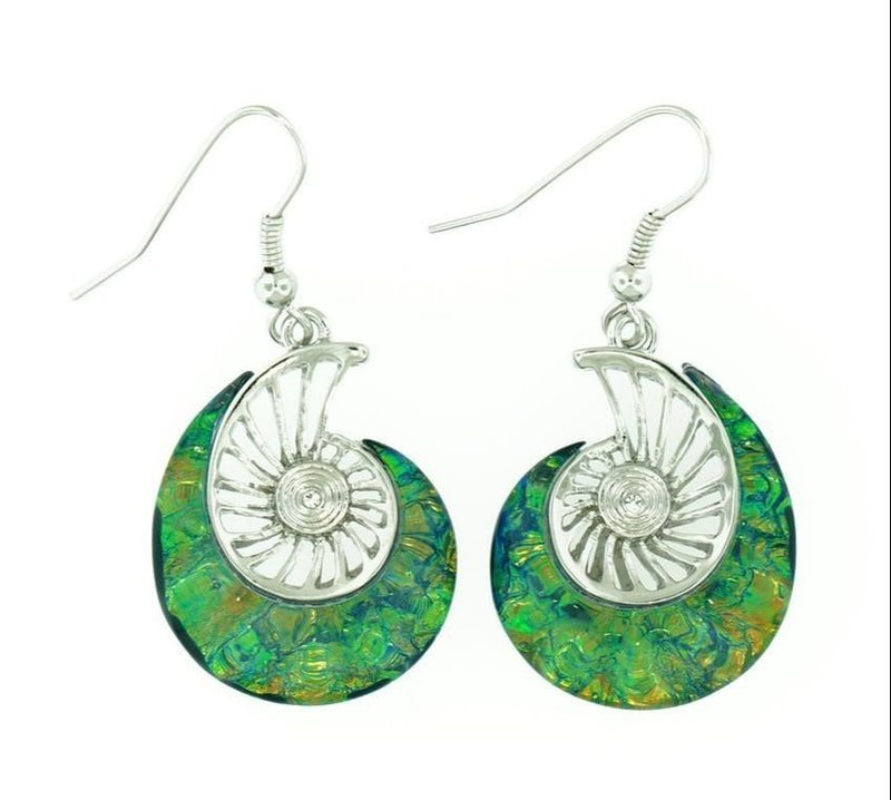 Nautilus Bright Green Earrings