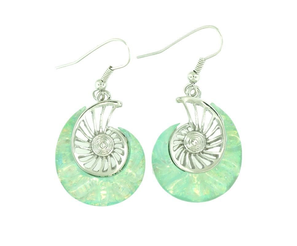 Nautilus Light Blue Earrings STE-53-LBU