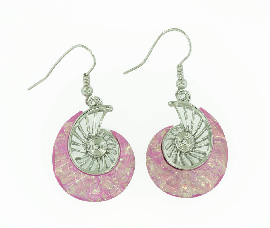 Nautilus Beach Pink Earrings STE-53-P
