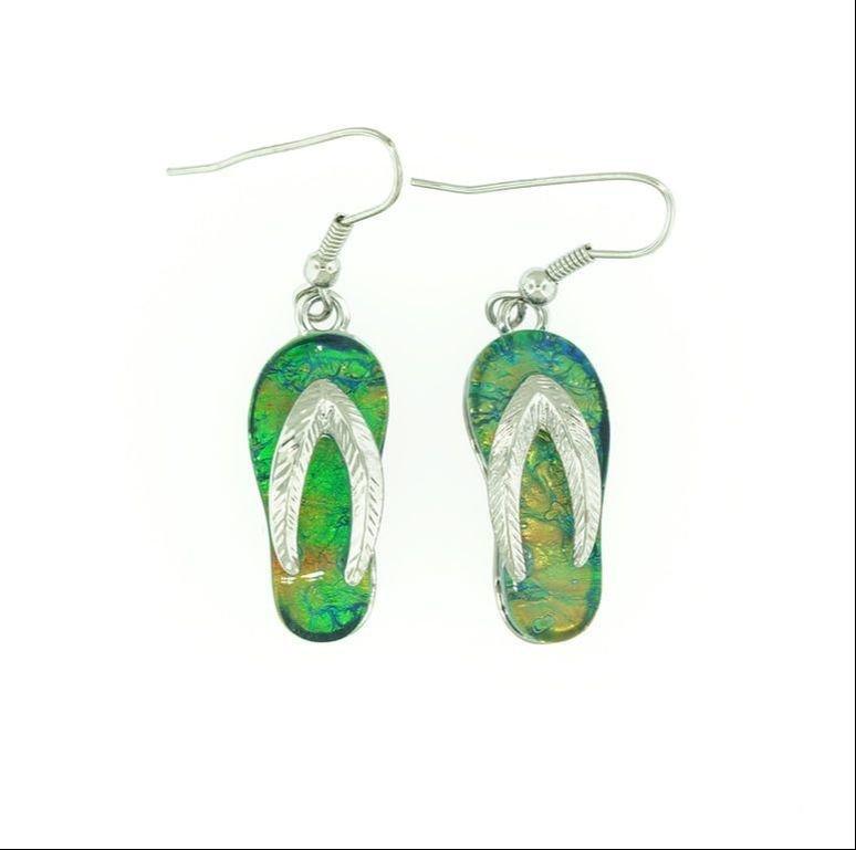 Flip/Flop Dark Green Earrings STE-88-G