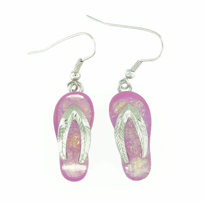 Flip/Flop Beach Pink Earrings STE-88-P