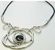 Leather Necklace With Mystic Topaz JNL-028-6490