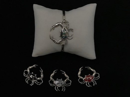 Sterling Silver Crab Topper