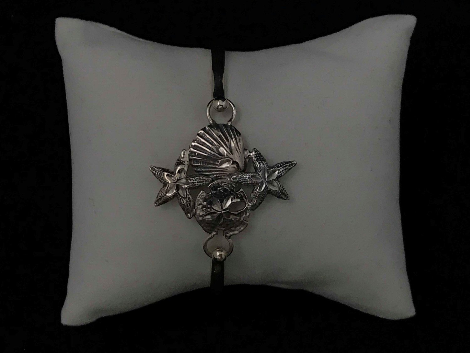 Sterling Silver Starfish Clam Sand Dollar Topper