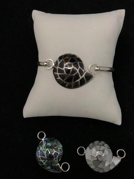 Sterling Silver Nautilus Topper