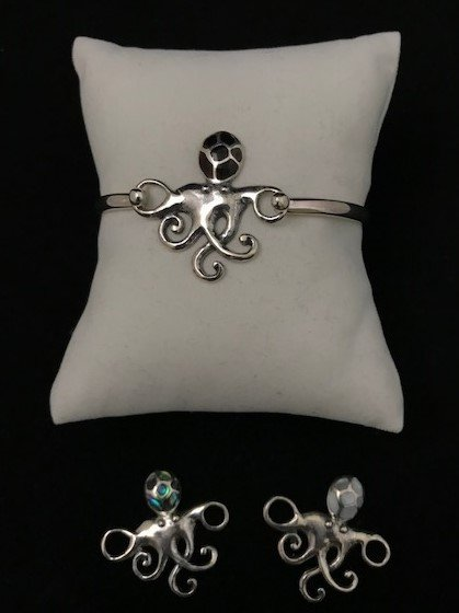 Sterling Silver Octopus Topper