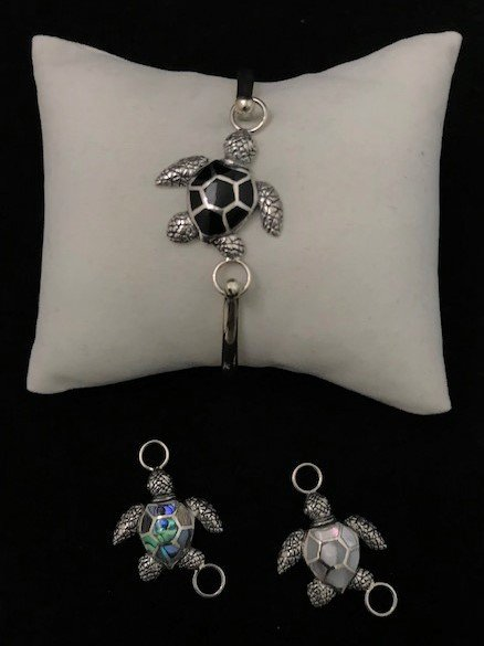 Sterling Silver Sea Turtle Topper