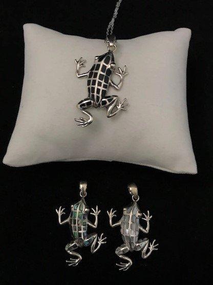 Sterling Silver Frog Pendant APD-1-Frog