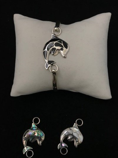 Sterling Silver Dolphin Topper TOP-ATD-9