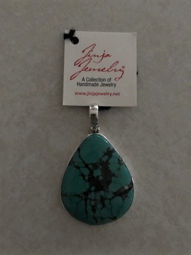 Turquoise Natural Blue Teardrop Pendant APD-3 Turquoise